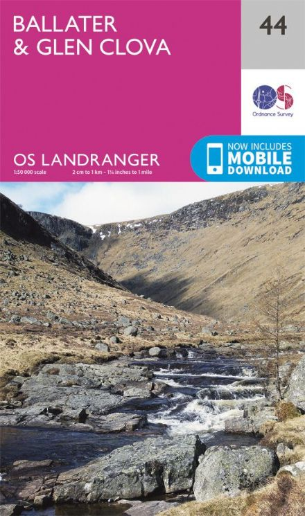 OS Landranger 44 Ballater and Glen Clova